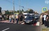 В Запорожье ветераны ато перекрыли Центральный Проспект